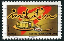 TIMBRE FRANCE AUTOADHESIF OBLITERE N° 352 / TIMBRE POUR INVITATION