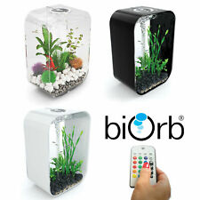 Oase BiOrb Life 45 Aquarium Fish Tank MCR LED Light Filter Black White Clear 45L