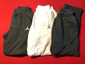 Three Pairs Of Mens Jordan Sweatpants. All 3 Size Medium
