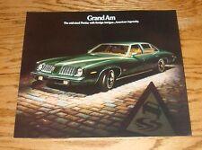 Original 1974 Pontiac Grand Am Sales Brochure 74