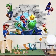 1pcs 3D Vinyl Wall stickers Super Mario Bros for kids DIY Wallpaper Home Decor