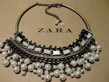 Zara Ethno mega statement Kette necklace boho top Blogger Glitzer Steine Perlen
