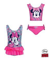 Girls Official Disney Minnie Mouse Swimwear Swimsuit Swimming Costume Or Bikini