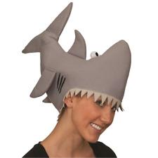 Shark Hat Attack Jaws Gray Bite Eaten Funny Cap Sharknado Movie 2 Costume