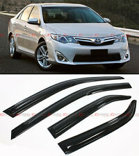 MUGEN 3D STYLE SMOKED WINDOW VISOR VENT SHADE FOR 2012-2014 TOYOTA CAMRY LE SE