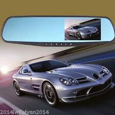 "Car 4.3"" LCD 1080P HD Rear View Mirror Video Recorder Anti-Glare Blue Camera DVR"