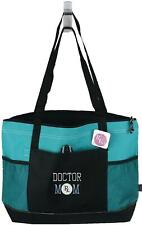 Doctor Mom Dr. Mother Monogram Bag Teal Zipper Gemline Medical Mother's Gift NWT