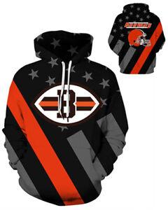 Cleveland Browns Hoodie Lightweight Small-XXXL 2XL Unisex Men Women Football