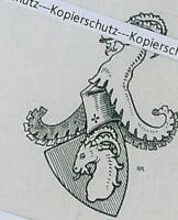 Gebsattel - Ludwig Ritter Freiherr von Gebsattel - Adelswappen - um 1915 Y 34-7