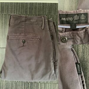 Musto Trousers Chinos Grey UK 34 Long 100% Cotton