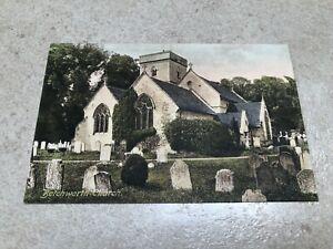 1900s colour postcard . betchworth church  - friths series