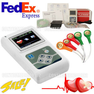 USA TLC5000 12-channel ECG/EKG Holter System/Recorder Monitor ​Analyzer Software