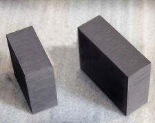 5x 100*100*10mm 99.9% Pure Graphite Block Electrode Rectangle Plate Blank Sheet