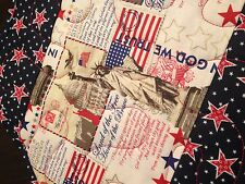 Handcrafted-Quilted Table Runner- Patriotic Runner - Labor, Memorial, 4th etc.