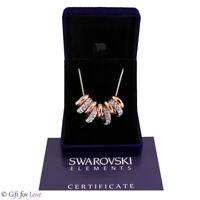Collana donna Swarovski Element originale G4L cristalli anelli argento oro stras