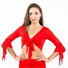 Tribal Belly Dance Butterfly 3/4 Sleeve Frills Wrap Choli Top Costume Gypsy UK