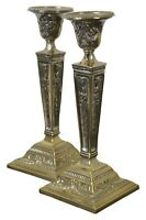 International Silver Co. Silverplate Candlesticks Neoclassical Candle Holders
