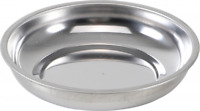 BGS Kraftmann 2 x Stainless Steel Magnetic Dish Tray 100mm Parts Bowl GS TUV