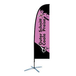 Werbung Friseur Salon Beachflag F1 Friseurbedarf  über 2,4m Friseureinrichtung