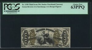 1864-69 50 CENTS FRACTIONAL CURRENCY FR-1358 CERTIFIED PCGS UNCIRCULATED-63-PPQ