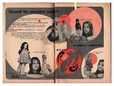 1968 : document (IUQ SAN 39) : POUPéE BELLA TRESSY DELPHINE DESYEUX 2 pages