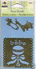 Plaid Brass stencil template Baby Theme, Elephant, Giraffe, Rabbit animals