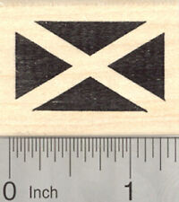 Flag of Scotland Rubber Stamp, Saint Andrew's Cross, Saltire D25002 WM