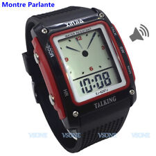 French Talking Watch for the Blind and Elderly Electronic Digital Sports Watch