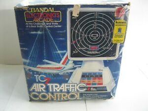 Vintage 1981 BANDAI TC7 Air Traffic Control Electronic Game w Original Box Works