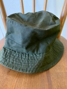 Barbour Bucket Hat Waxed Hat Green Size M A115  Men's Hat Rain Hat Used