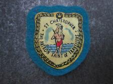 St Christopher Cloth Patch Badge Souvenir Tourist (L20S)