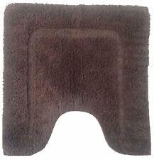 Dark Brown Anti-Slip 100% Cotton Tufted Luxury Soft Bath Contour Mat 22*22 In