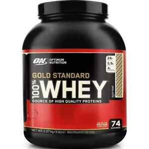 OPTIMUM NUTRITION GOLD STANDARD 100% WHEY PROTEIN - 5 FLAVOR - 5LB NEW