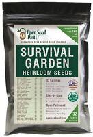 15,000 Non GMO Heirloom Natural Vegetable Seeds, Survival Garden 32 Variety Pack