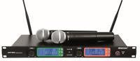 UHF-502 2-Kanal-Funkmikrofonsystem 823-832MHz Funkmikrofon Sendemikro Mikrofon