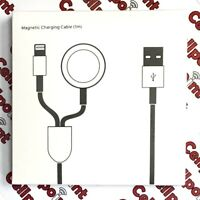 2in1 For Apple iPhone Charger & Apple Watch iWatch Magnetic Charging Cable New