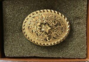 Vintage, Crumrine El Arturo Bronze Ladies Belt Buckle