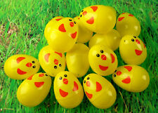 Set Of 16 Chick Plastic Surprise Eggs - Fill For Easter Hunt Gifts And Chocolate