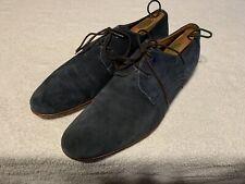 Aldo Blue Suede Loafer Oxford Dress Shoes Men's 12M Blucher Derby