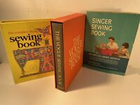 Vtg Sewing Books Set Of 3: Vogue w Cover, Singer W DJ, Complete Family; 1st Ed.