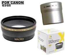 Xit 0.43x Wide Angle Lens For Canon PowerShot G5 G3