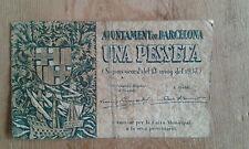 Used -BILLETE DE 1 PESETA DEL AJUNTAMENT DE BARCELONA - Usado