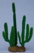 """Aquarium Plant Artificial Green Sunrise Cactus Plant 9"""" Fake Silk Decoration"""