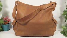 Fossil Classic Brown Pebbled Leather Hobo Shoulder Bag / Purse / Handbag ZB8071