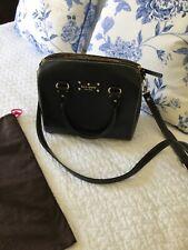 Kate Spade Cameron Leather Satchel Shoulder / Crossbody Bag Black