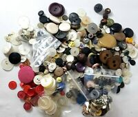 Huge Lot of Vintage Buttons Fabric, Plastic, Metal, Rhinestones - More than 1 Lb