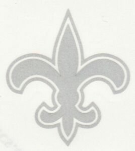 REFLECTIVE New Orleans Saints 2 inch fire helmet hard hat decal sticker RTIC