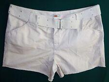Womens Plus Shorts 26W Light Beige Route 66 w/ Belt New