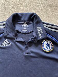 Chelsea Polo Shirt Footbal Adidas Size Large