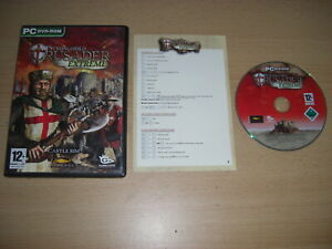 STRONGHOLD CRUSADER EXTREME Pc Cd Rom Castle Sim STRONG HOLD